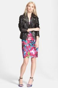 'Riza' Leather Moto Jacket