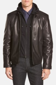 Andrew Marc 'Stewart' Hooded Leather Jacket